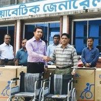 চট্টগ্রামে 'এলবিয়ন গ্রুপে'র উদ্দ্যোগে হুইল চেয়ার বিতরণ